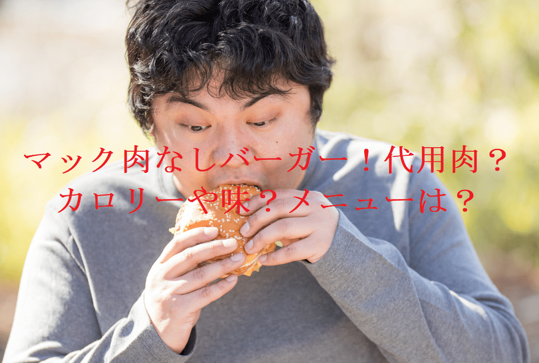 マック肉なしバーガー!代用肉?カロリーや味?メニューは?