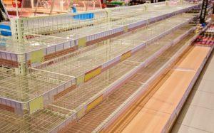 スーパー棚商品なし