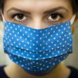 青いマスク