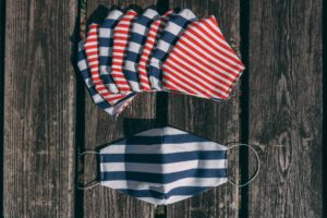 child mask stripes